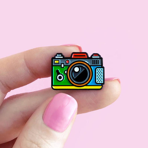 Camera Rainbow Enamel Pin