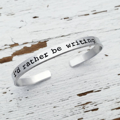 I'd Rather Be Writing Bracelet, Gift For Blogger, Journalist Bracelet, I'd Rather Be Reading, Gift For Author, Writer's Jewelry