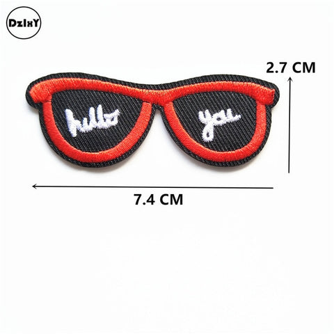 Camera Embroidered Patches for Clothing DIY Stripes Applique Clothes Iron on Stickers Finger Badges Feather Patches