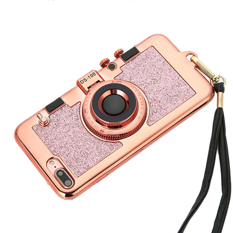 Camera Phone Cases Case Luxury Electroplating Soft For iPhone 7,8 Plus 5.5inch