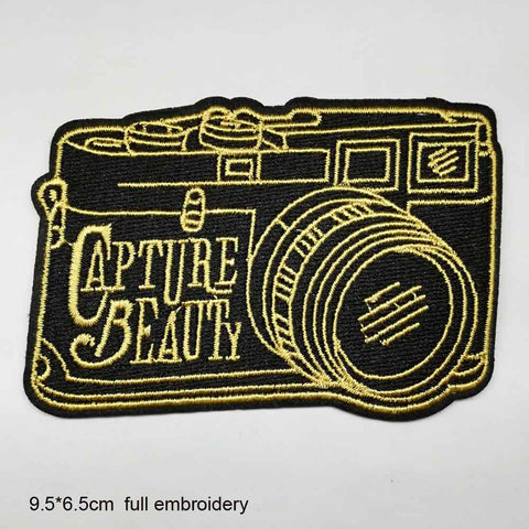 Photography Camera Iron On Embroidered Patches