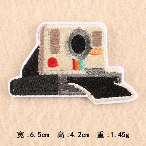Camera Embroidery Patch