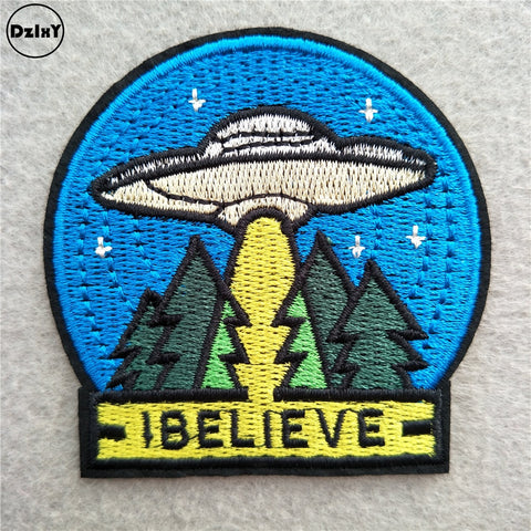 UFO, I Believe Embroidered Patch