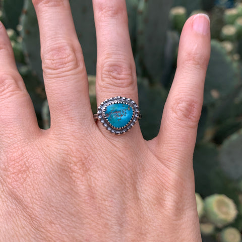 Size 5.5 Turquoise Stacker Ring