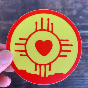 New Mexico Heart Sticker