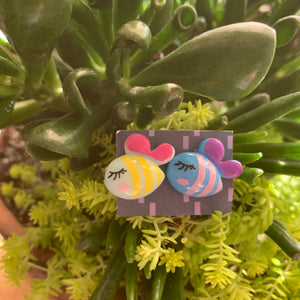 Cute two color bumblebee stud Earrings