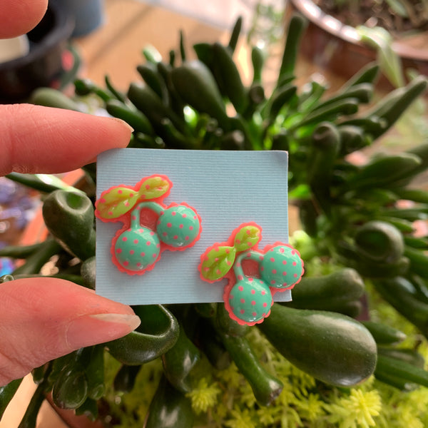 Pastel Cherry stud Earrings-