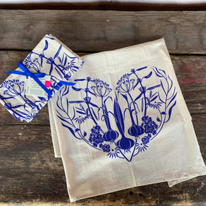 Herb Heart Dishtowel