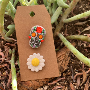 Pieces of Flare- sugar skull and flower