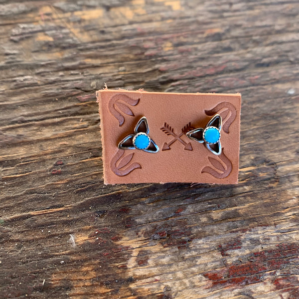 Three point Turquoise Earrings
