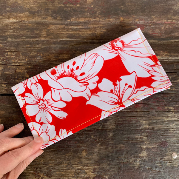Red oil cloth wallet