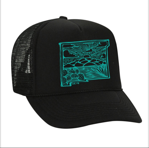 New Mexico illustration outline Trucker Hat