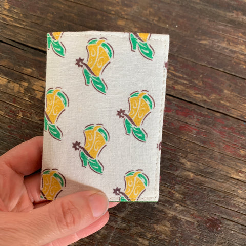 Cowboy boot handmade vintage fabric wallet