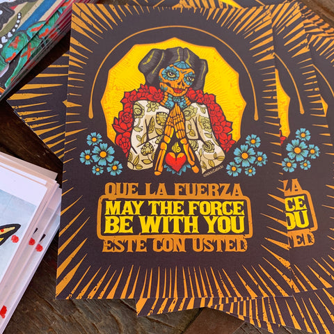 May the Force be with You 5x7 NikkiZabicki mini print