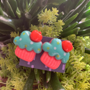 Cupcake stud Earrings-