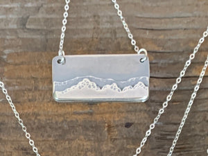 Sandia Mountain Silver Charm Necklace- Alisha Williams