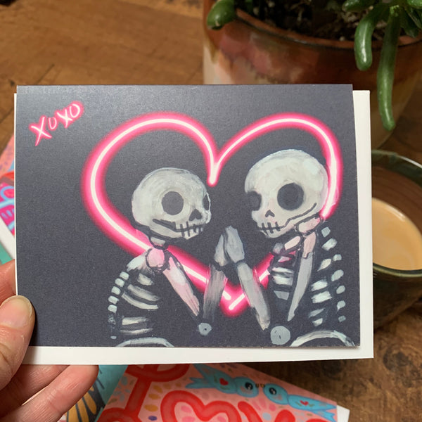 XoXo Skully Valentines card