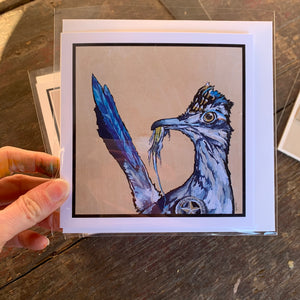 Roadrunner Sheriff blank greeting card