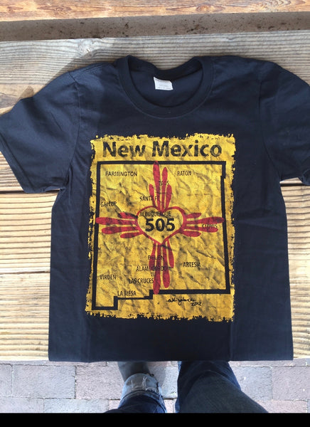 New Mexico 505 Mens/unisex Crew Neck