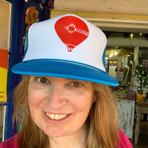 Blue and Red Balloon Trucker Hat