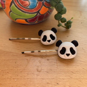 Hairpins-panda heads