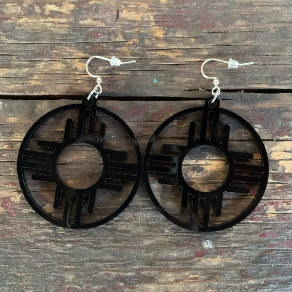 Black Zia earrings MrMr