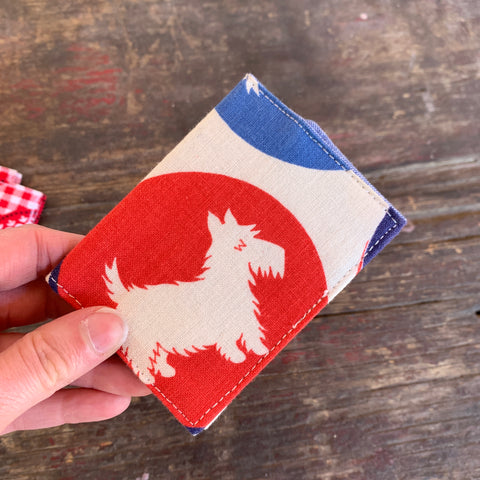 Scotty dog handmade vintage fabric wallet
