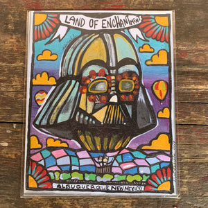 8x10 print- Darth Vader balloon Land of Enchantment Balloon Fiesta