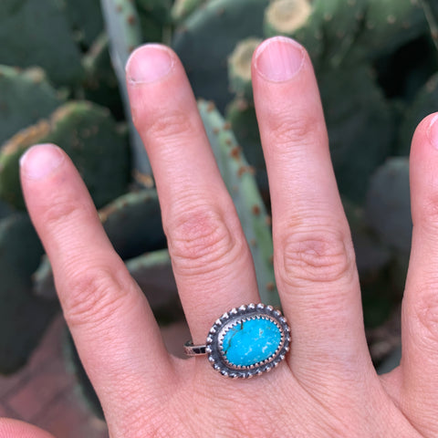 Size 7.5 Turquoise Stacker Ring