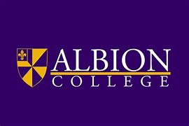 Albion College Logo with purple background