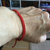 skinny red wax cotton wristband frence customer fabienne