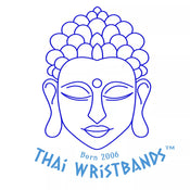 Thai Wristbands Blue Buddha Logo