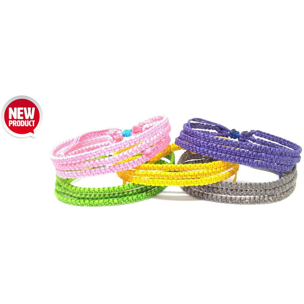 "The ""Skinny Trio"" Thai Wristband Bracelet - Thai Wristbands"