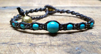 Turquoise gemstone beaded bracelet