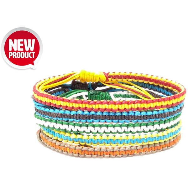 The Stripe Thai Wristband Bracelet - Thai Wristbands