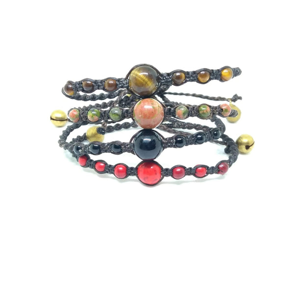 Thai Gemstone Beaded Bracelet