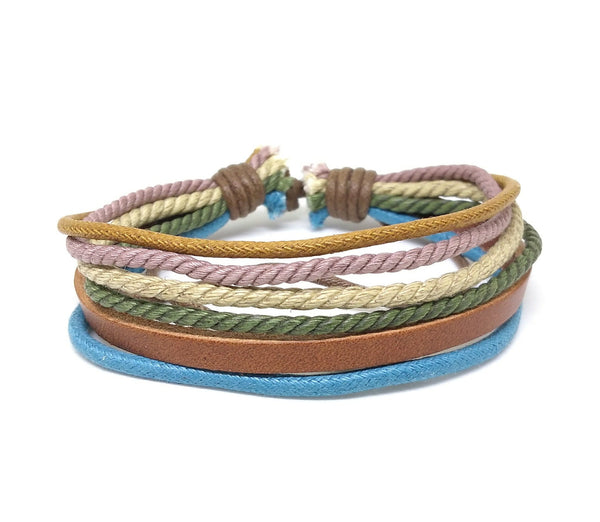 The STRAND Leather Cotton Bracelet