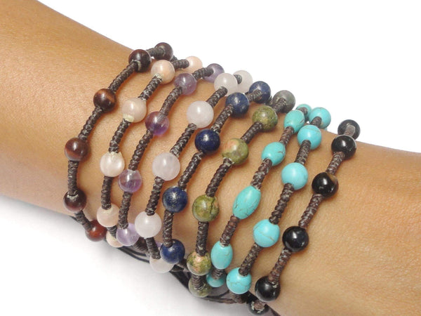 The ASIAN GemStone Beaded Thai Bracelet