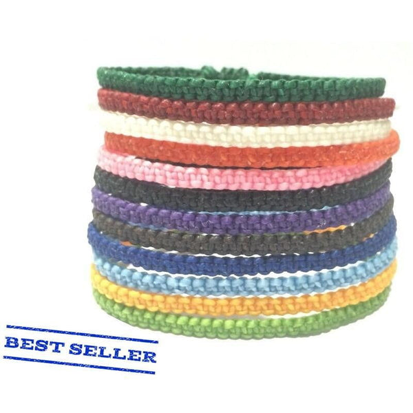 "The ""Skinny"" Thai Cotton Wristband - Thai Wristbands"