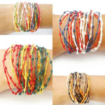 "The ""Festival"" Thai Bracelet-Bracelet-thaiwristbands-Red Yellow Green (Rasta)-Thai Wristbands"