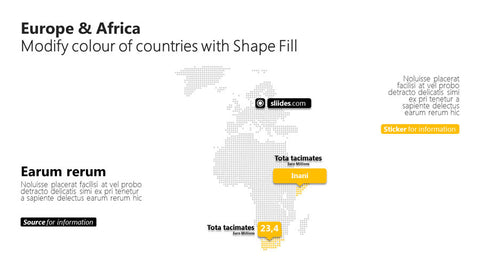 PowerPoint dots map Africa Europe