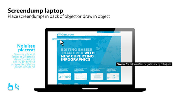 PowerPoint user interface laptop