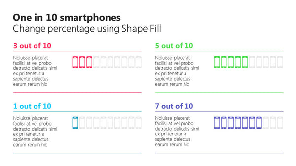 One in 10 smartphones PowerPoint