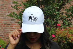 Mrs Embroidered Baseball Cap
