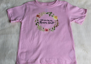 Will you be my flower girl custom shirt