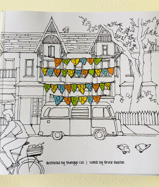 United Colours of Kensington Market Colouring Book