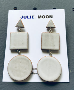 3-Shape Earring - White