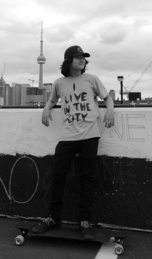 I Live In The City T-Shirt - White