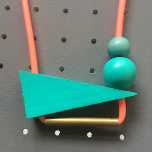 Neon Triangle Necklace