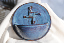 Load image into Gallery viewer, Light Rutile Holy Water Font with Saint Brigid's Cross Relief